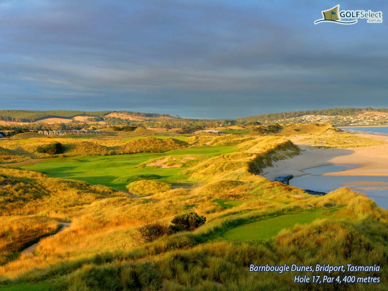 Barnbougle Dunes Golf Links Hole 17, Par 4, 400 metres