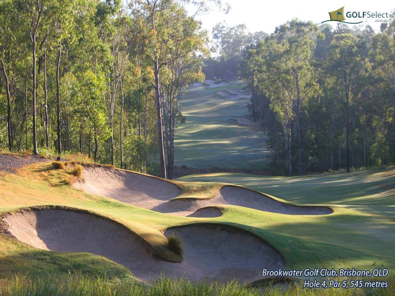 Brookwater Golf & Country Club Hole 4, Par 5, 545 metres