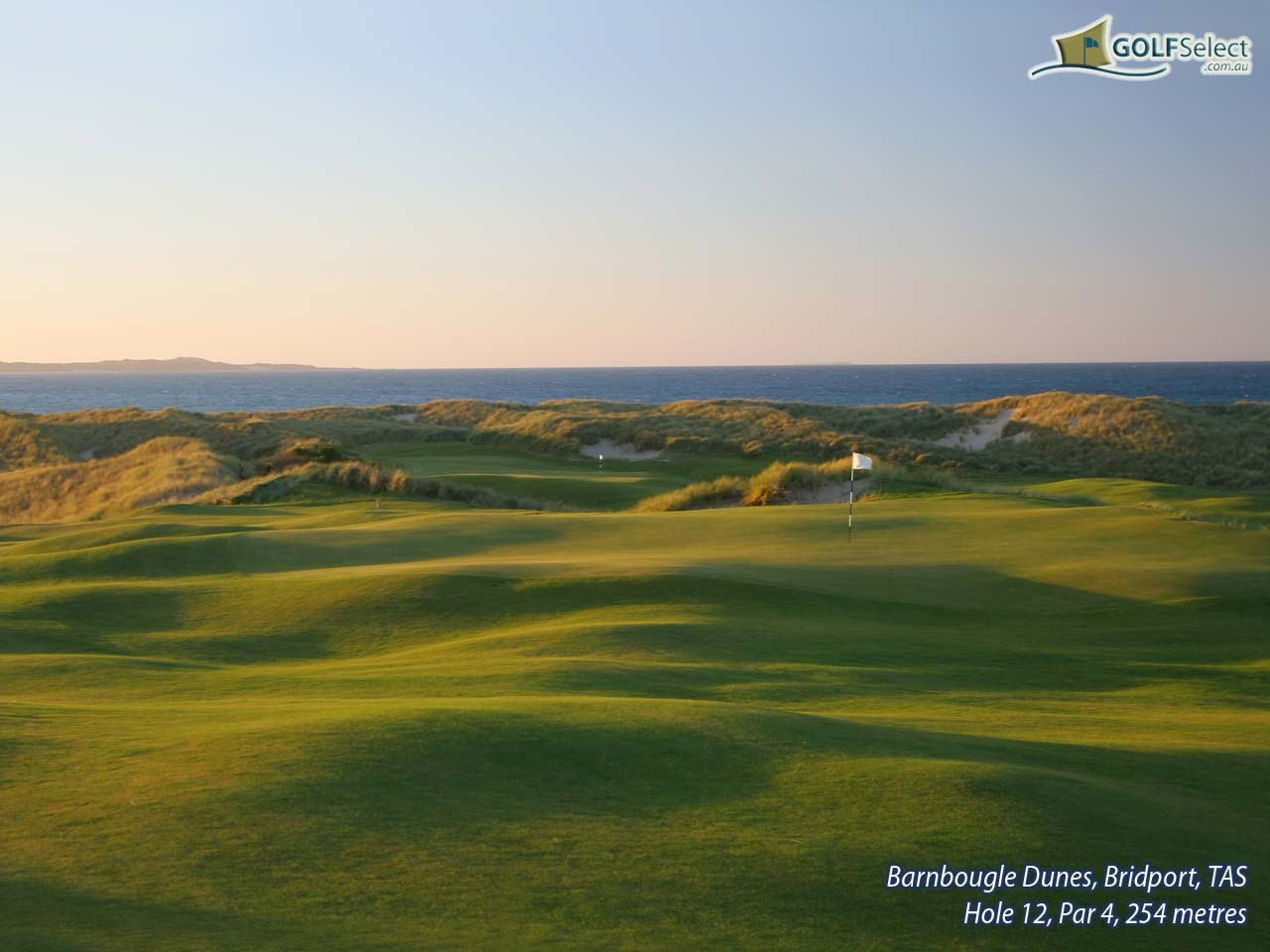 Barnbougle Dunes Golf Links Hole 12, Par 4, 254 metres