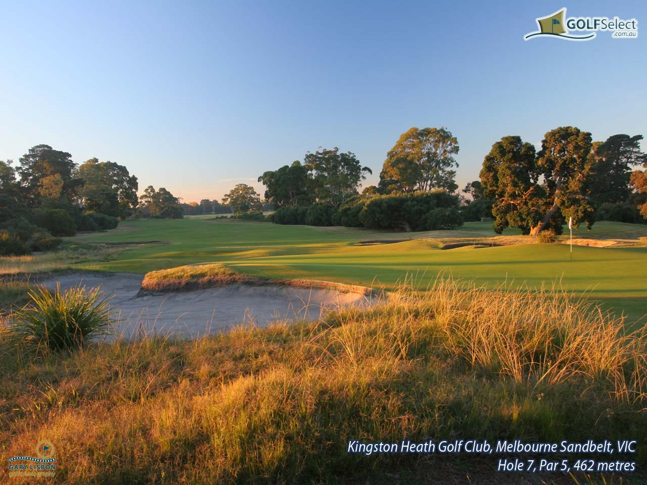 Kingston Heath Golf Club Hole 7, Par 5, 462 metres