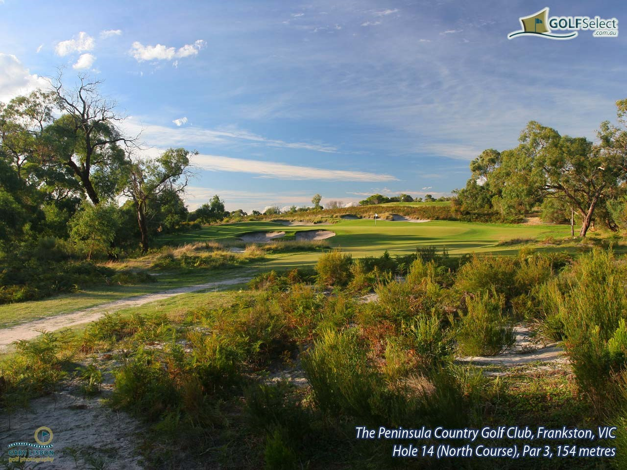 Peninsula Kingswood CGC (North) Hole 14 (North Course), Par 3, 154 metres