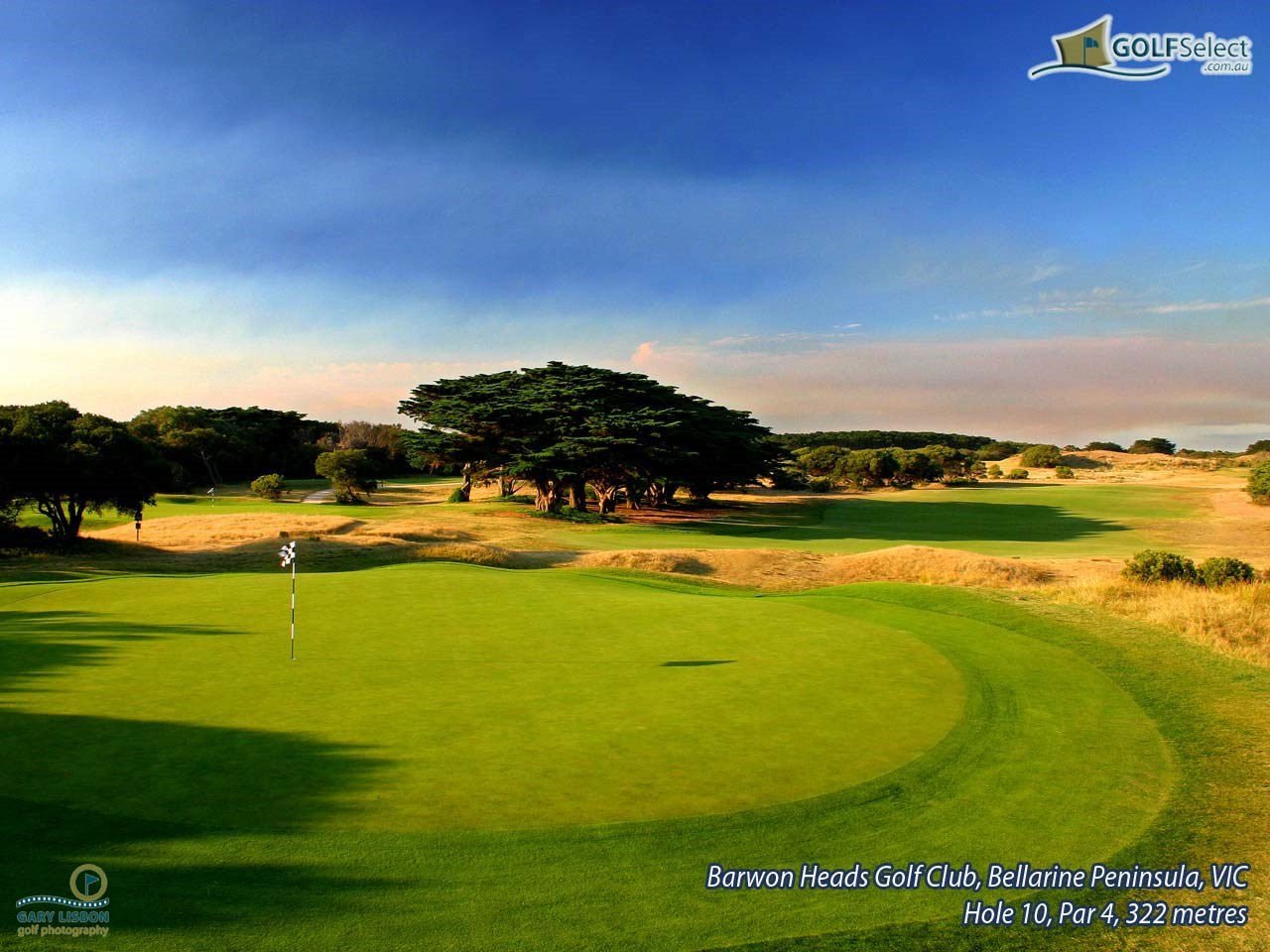 Barwon Heads Golf Club Hole 10, Par 4, 322 metres