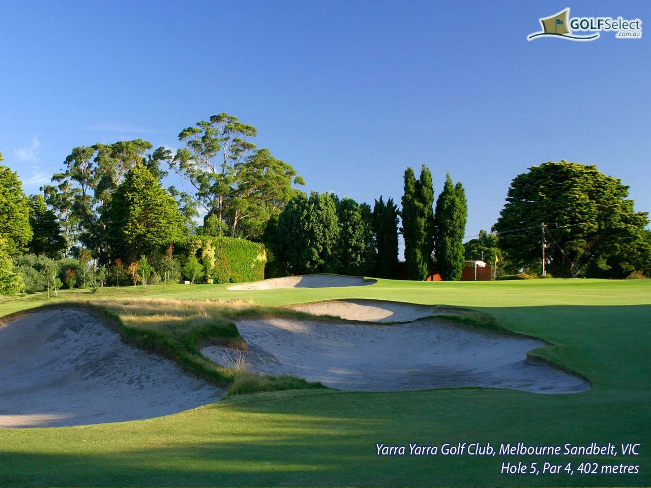 Yarra Yarra Golf Club Hole 5, Par 4, 402 metres