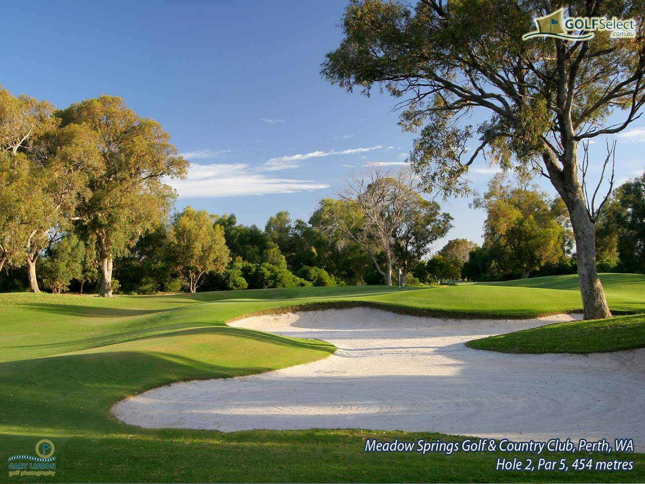Meadow Springs Golf & Country Club Hole 2, Par 5, 454 metres