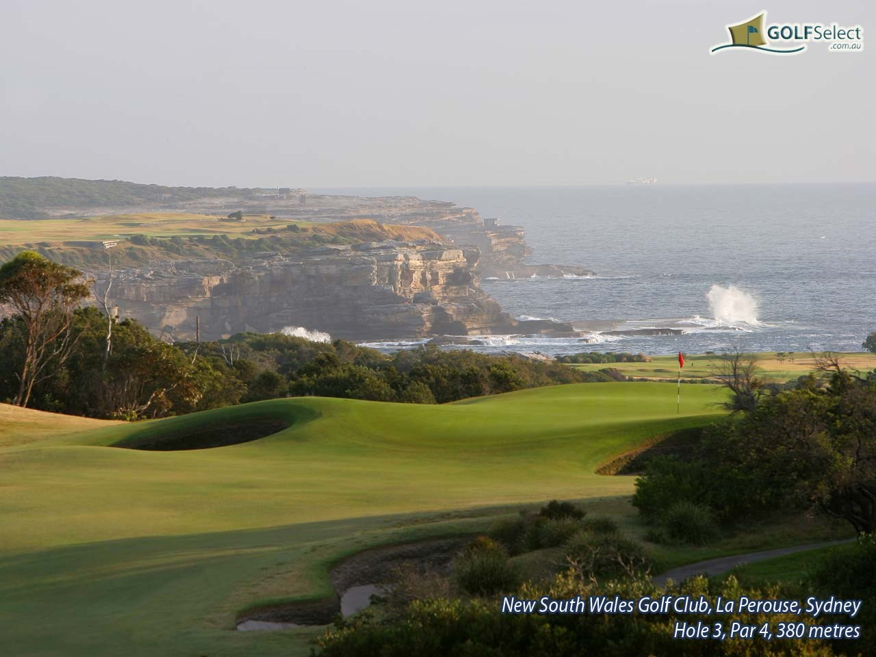 The New South Wales Golf Club Hole 3, Par 4, 380 metres