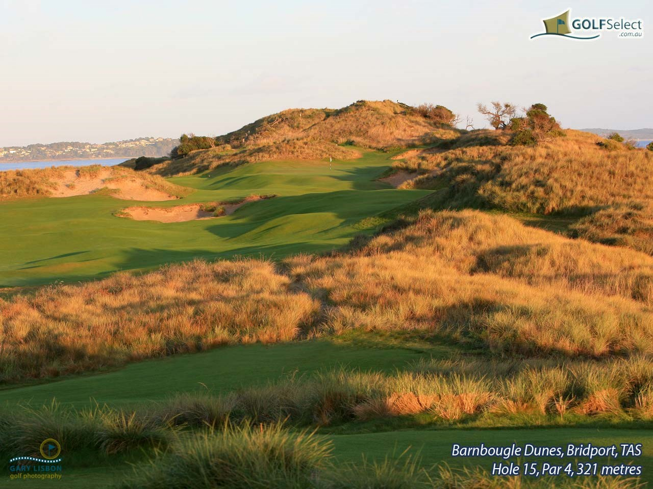 Barnbougle Dunes Golf Links Hole 15, Par 4, 321 metres