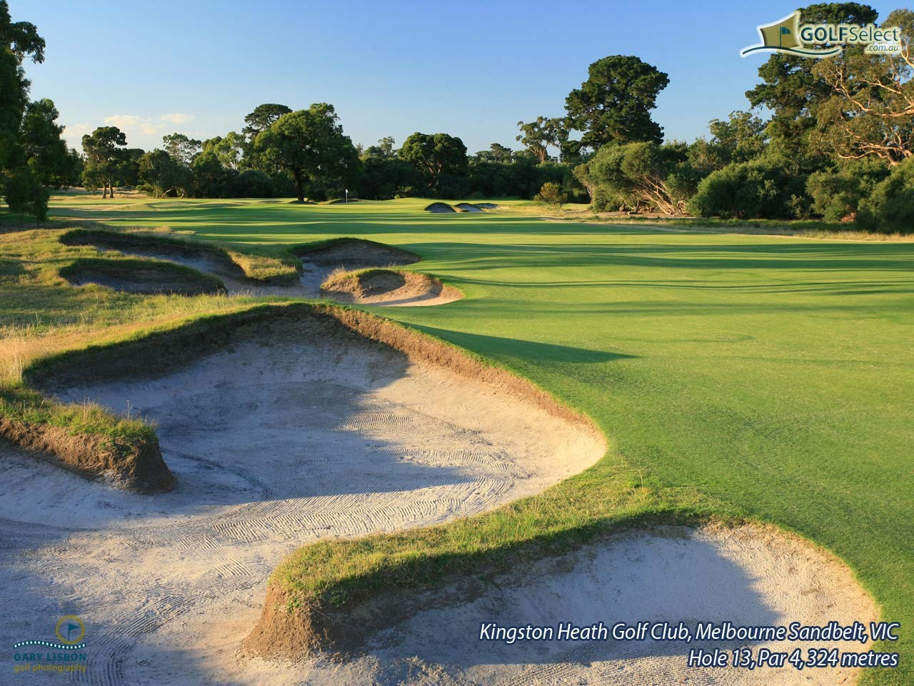 Kingston Heath Golf Club Hole 13, Par 4, 324 metres