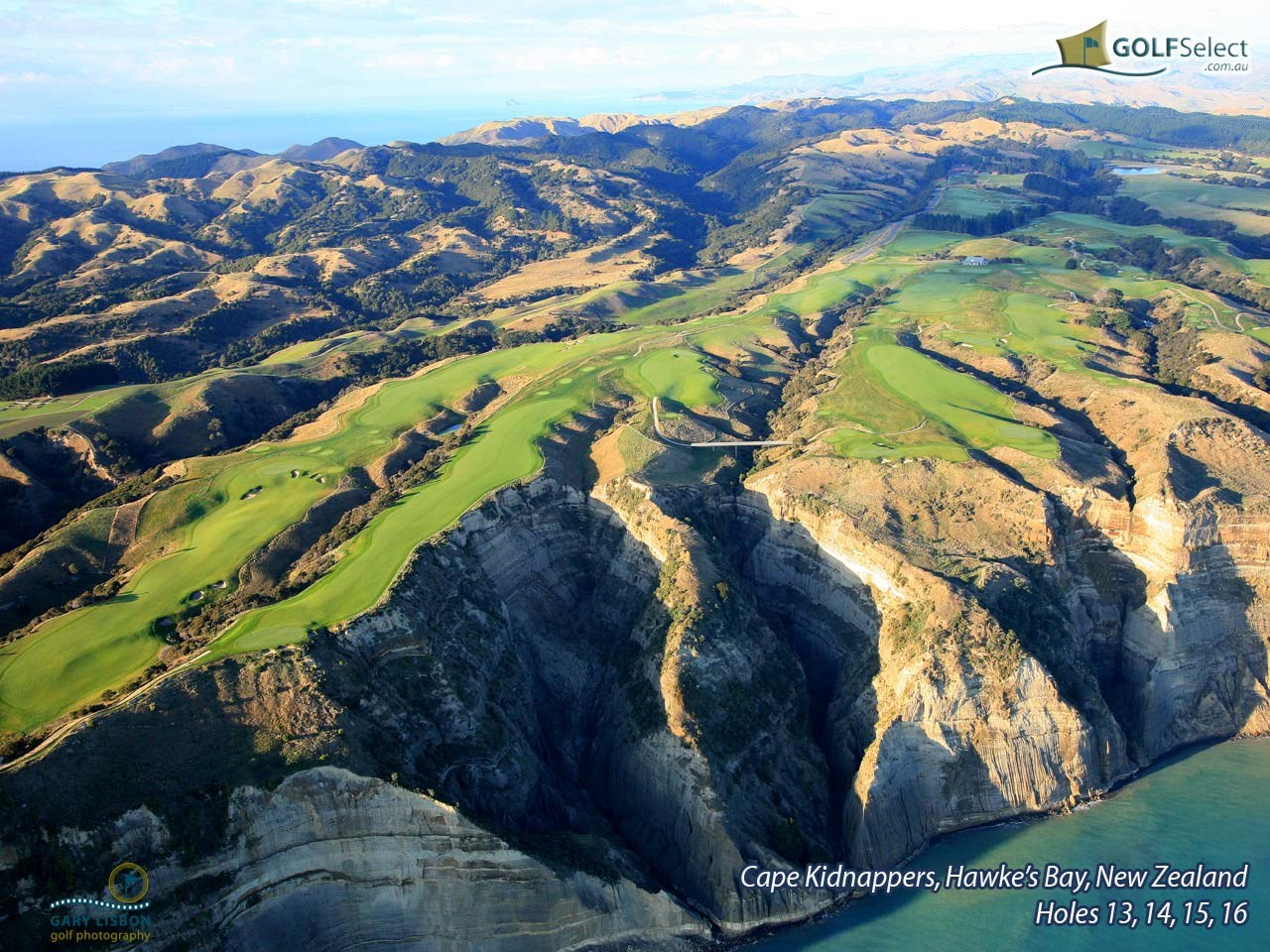 Cape Kidnappers Golf Course Hole 13, 14, 15, 16