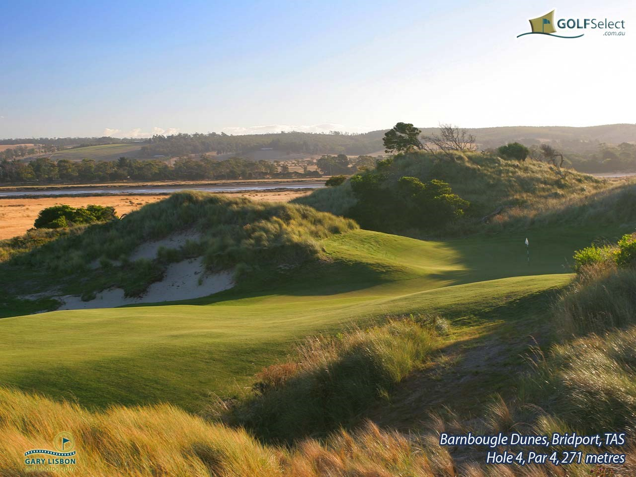 Barnbougle Dunes Golf Links Hole 4, Par 4, 271 metres