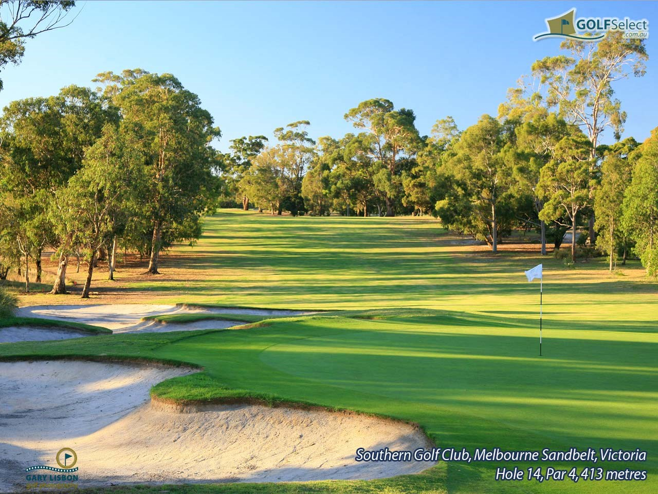 Southern Golf Club Hole 14, Par 4, 413 metres