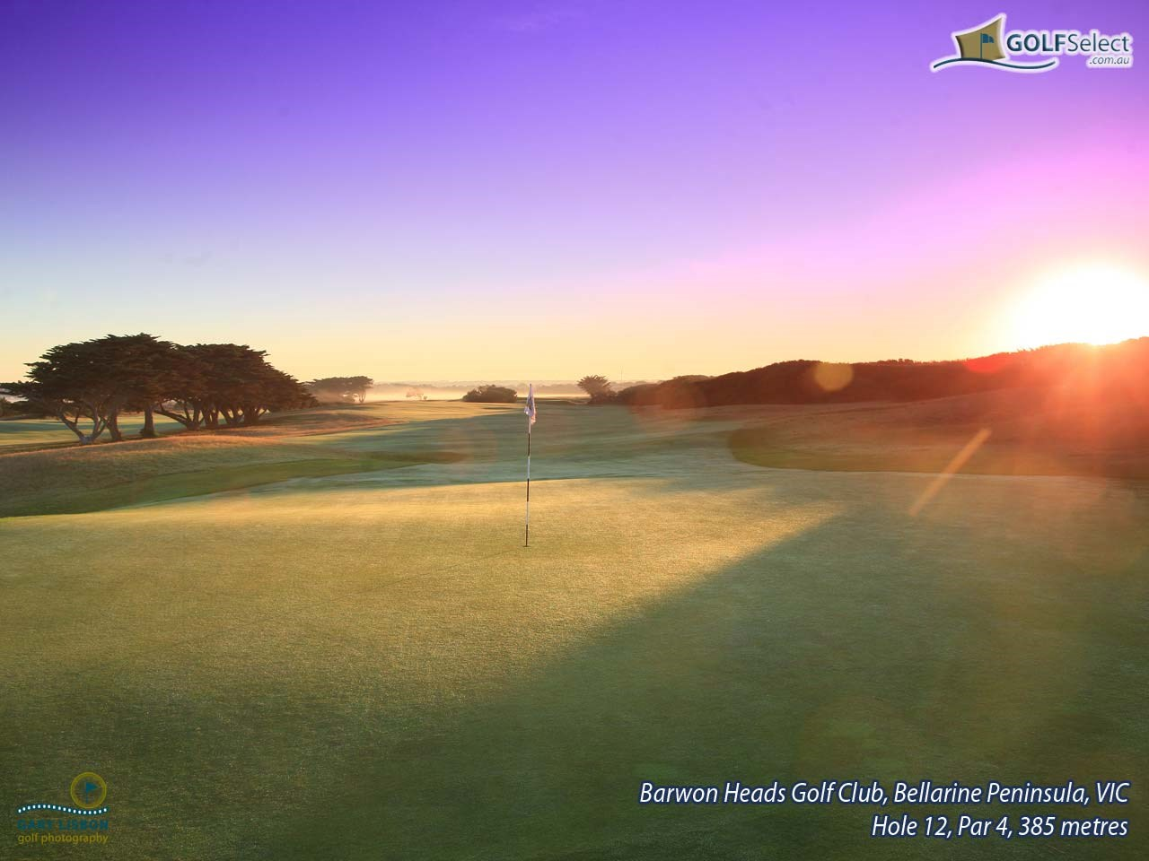 Barwon Heads Golf Club Hole 12, Par 4, 385 metres