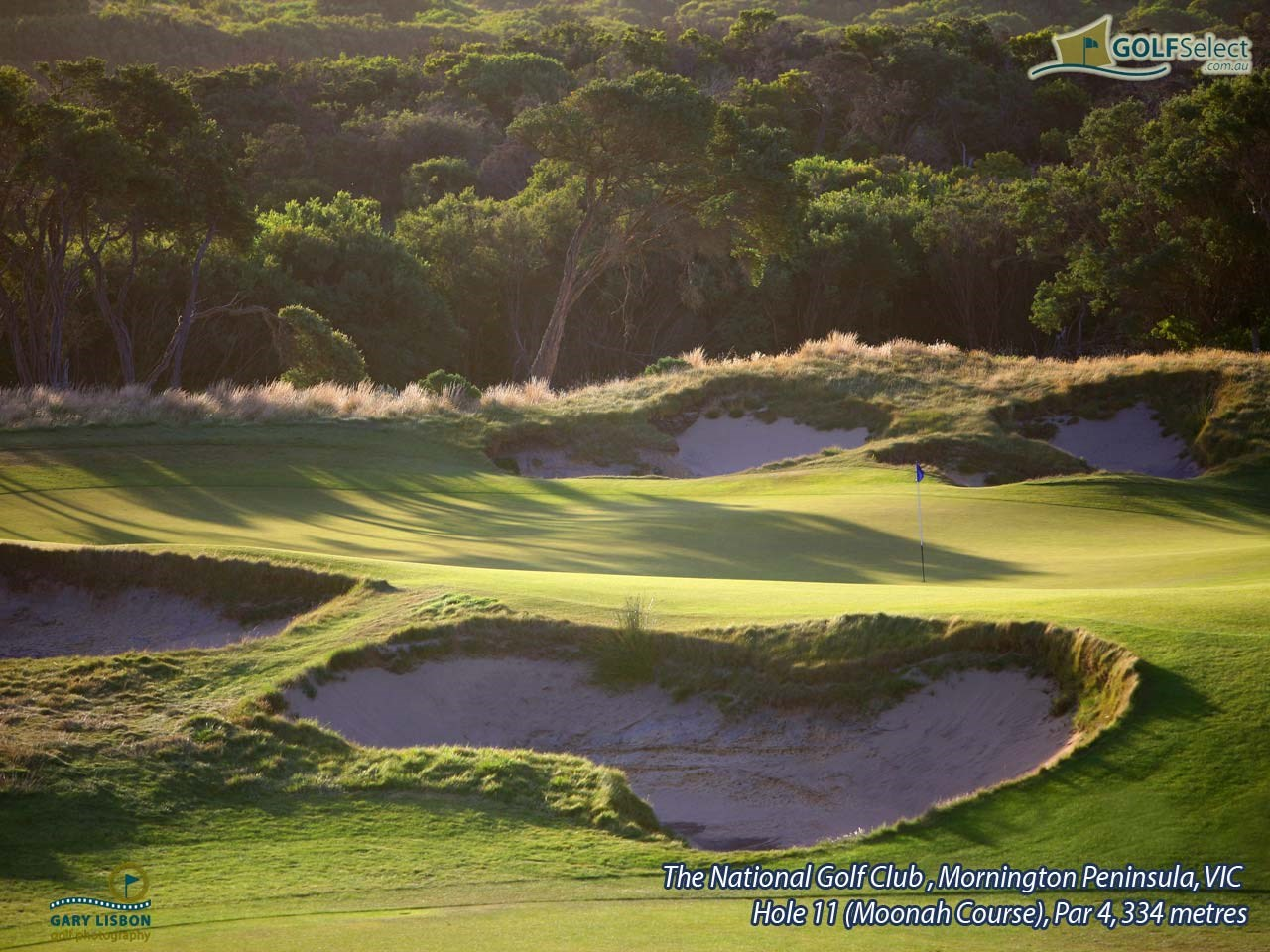 The National Golf Club (Moonah Course) Hole 11, Par 4, 334 metres