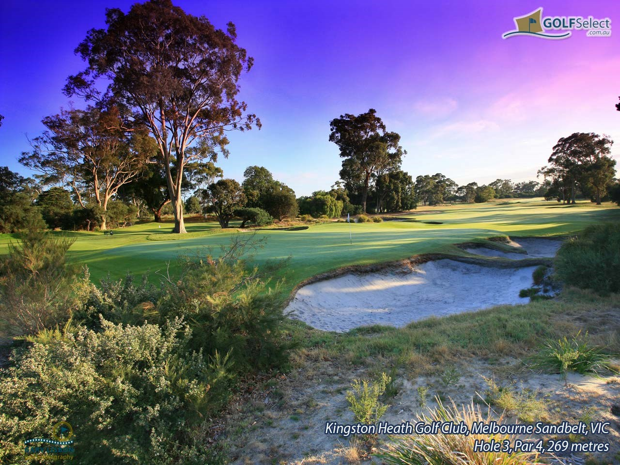 Kingston Heath Golf Club Hole 3, Par 4, 279 metres