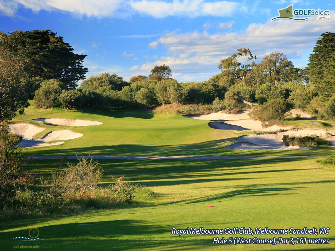 The Royal Melbourne Golf Club (West Course) Hole 5 (West Course), Par 3, 161 metres