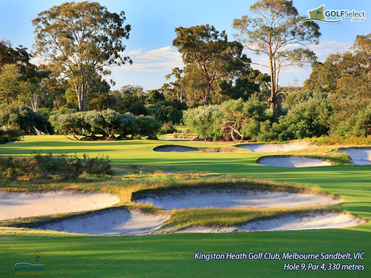 Kingston Heath Golf Club Hole 9, Par 4, 330 metres