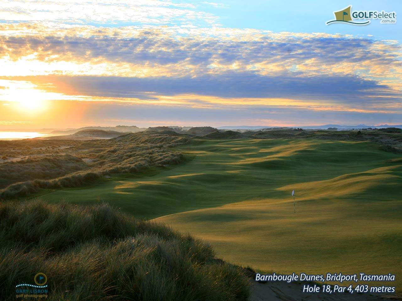 Barnbougle Dunes Golf Links Hole 18, Par 4, 403 metres