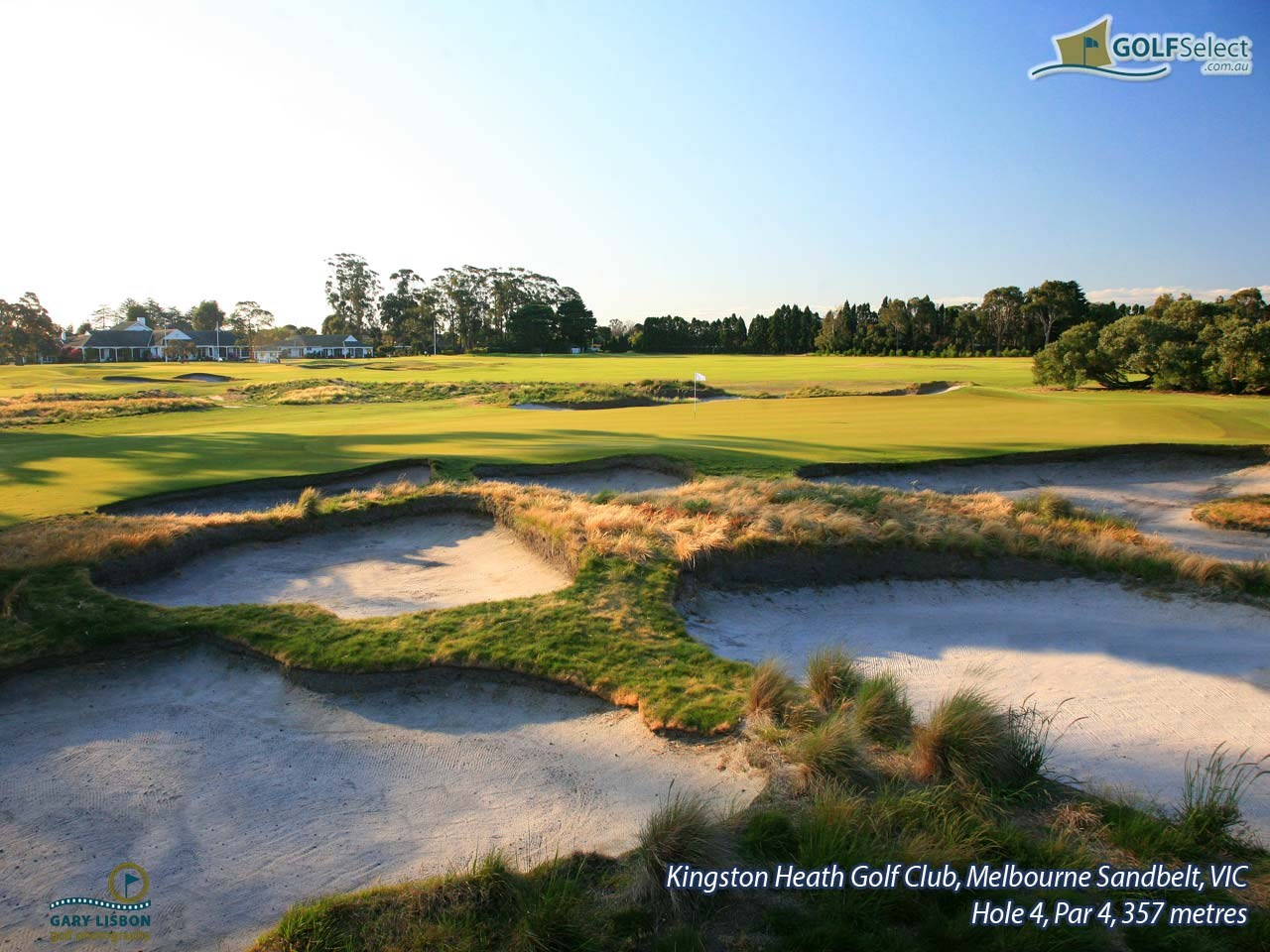 Kingston Heath Golf Club Hole 4, Par 4, 357 metres