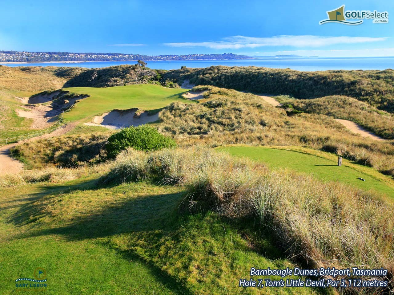 Barnbougle Dunes Golf Links Hole 7, Tom's Little Devil, Par 3, 112 metres