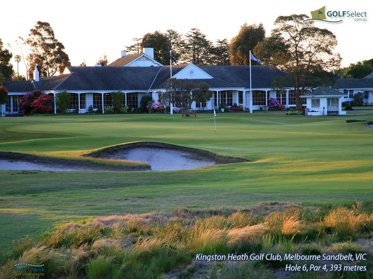 Kingston Heath Golf Club Hole 6, Par 4, 393 metres