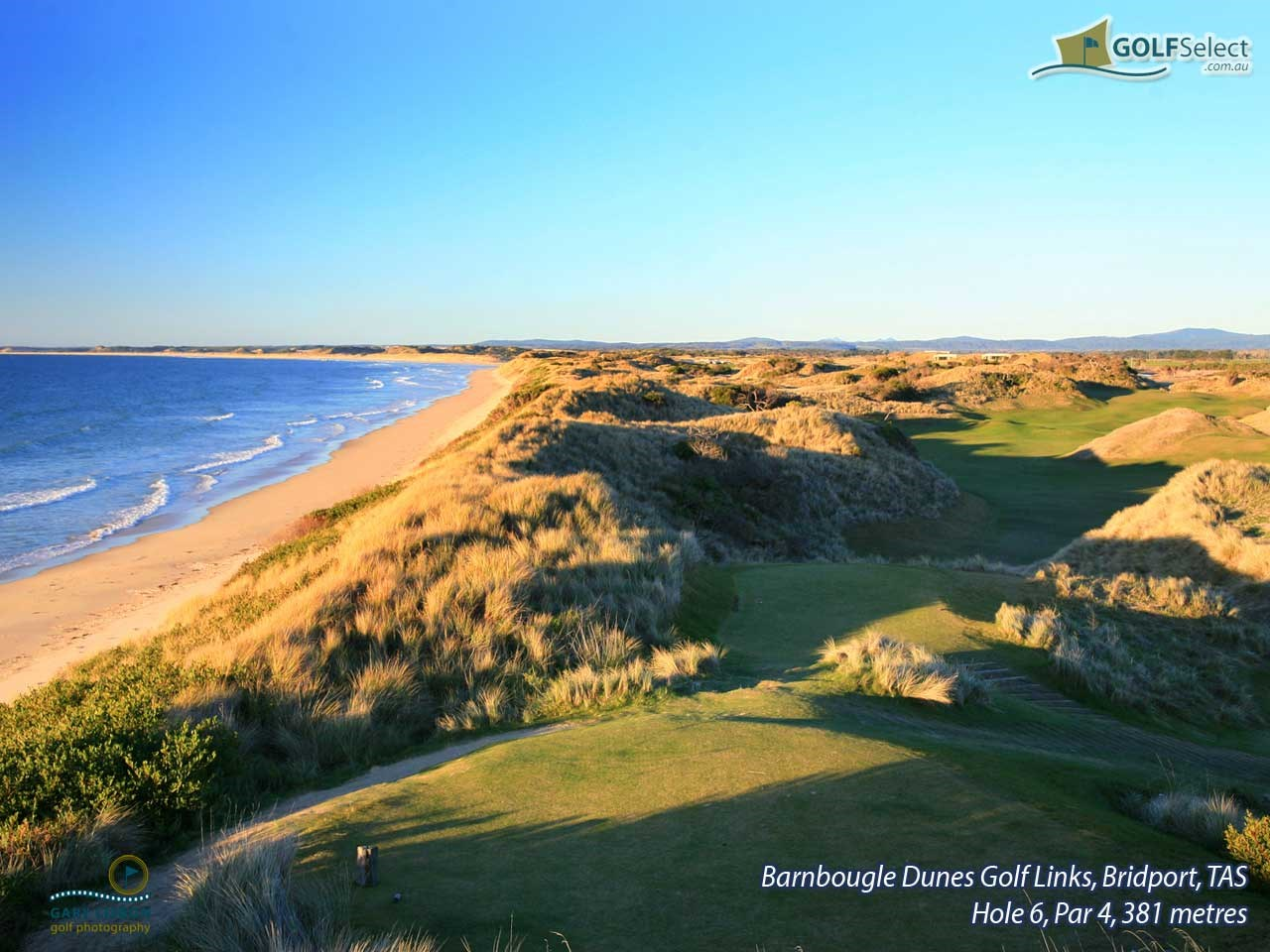 Barnbougle Dunes Golf Links Hole 6, Par 4, 381 metres