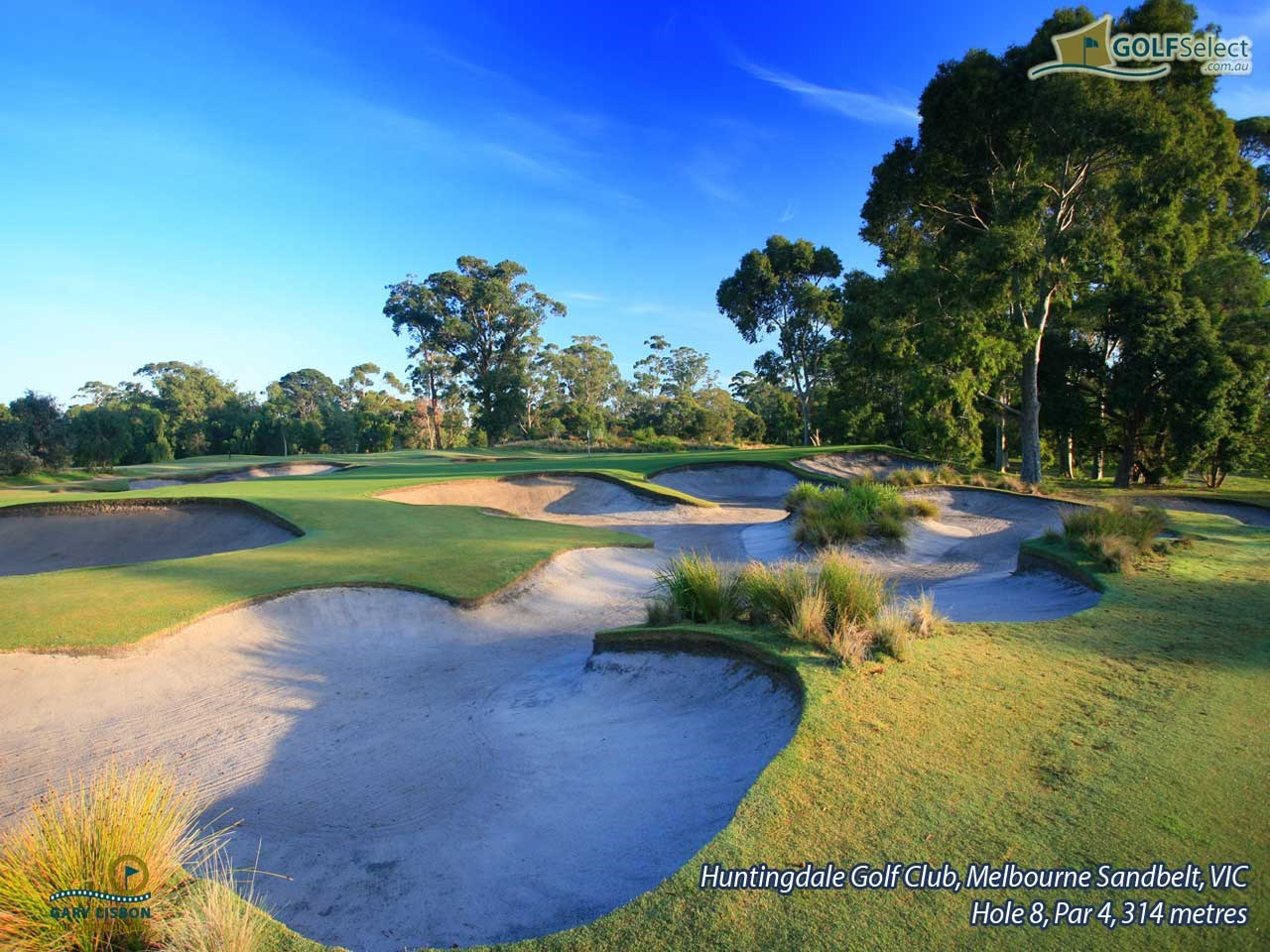Huntingdale Golf Club Hole 8, Par 4, 314 metres