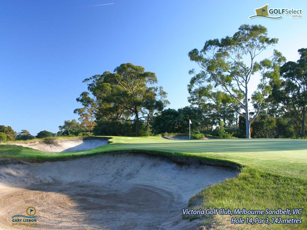 Victoria Golf Club Hole 14, Par 3, 142 metres