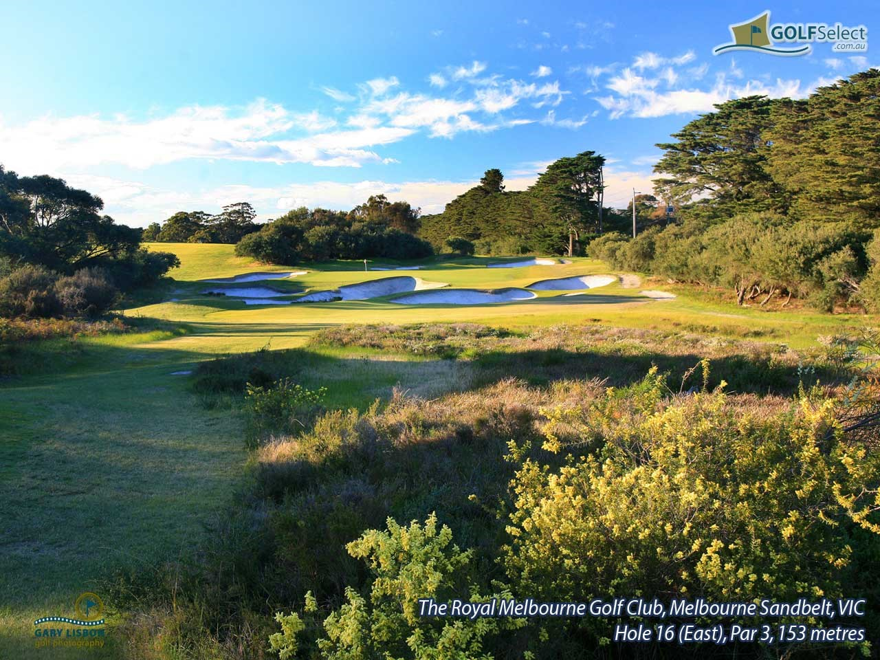 The Royal Melbourne GC (East Course) Hole 16 (East), Par 3, 153 metres