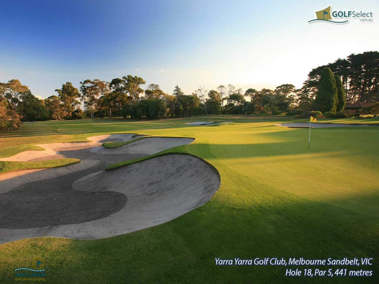 Yarra Yarra Golf Club Hole 18, Par 5, 441 metres