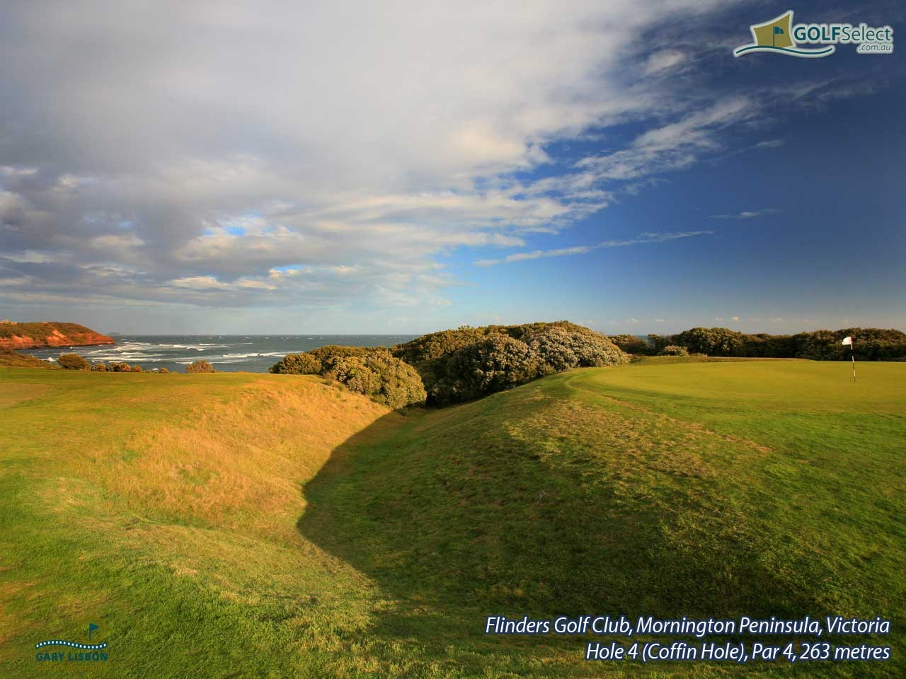 Flinders Golf Club Hole 4, Par 4, 263 metres