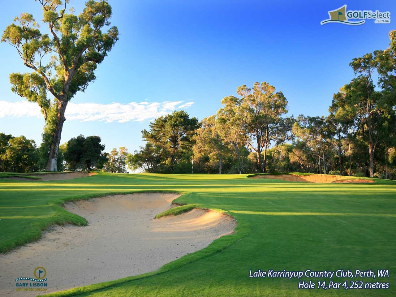 Lake Karrinyup Country Club Hole 14, Par 4, 252 metres