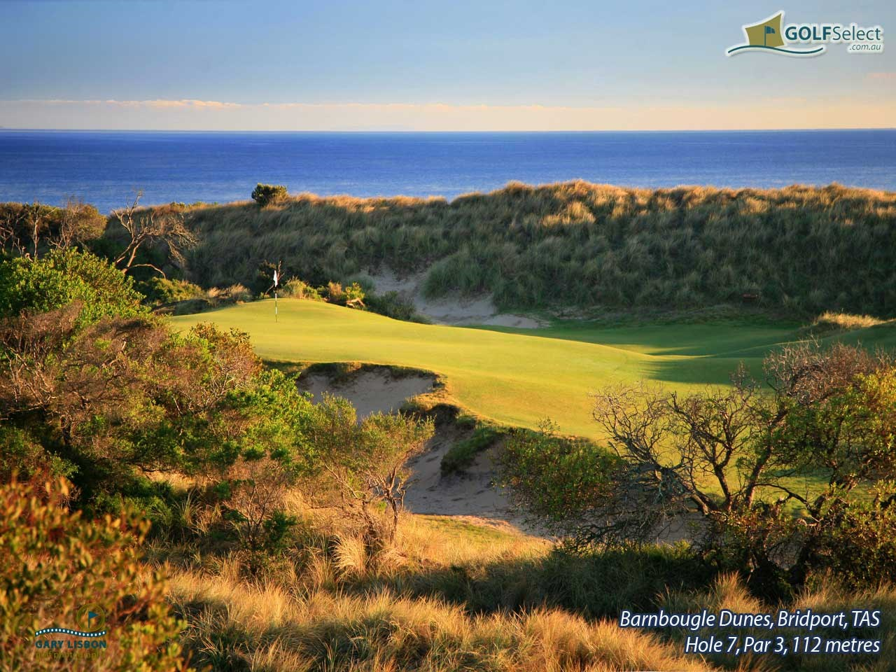 Barnbougle Dunes Golf Links Hole 7, Par 3, 112 metres