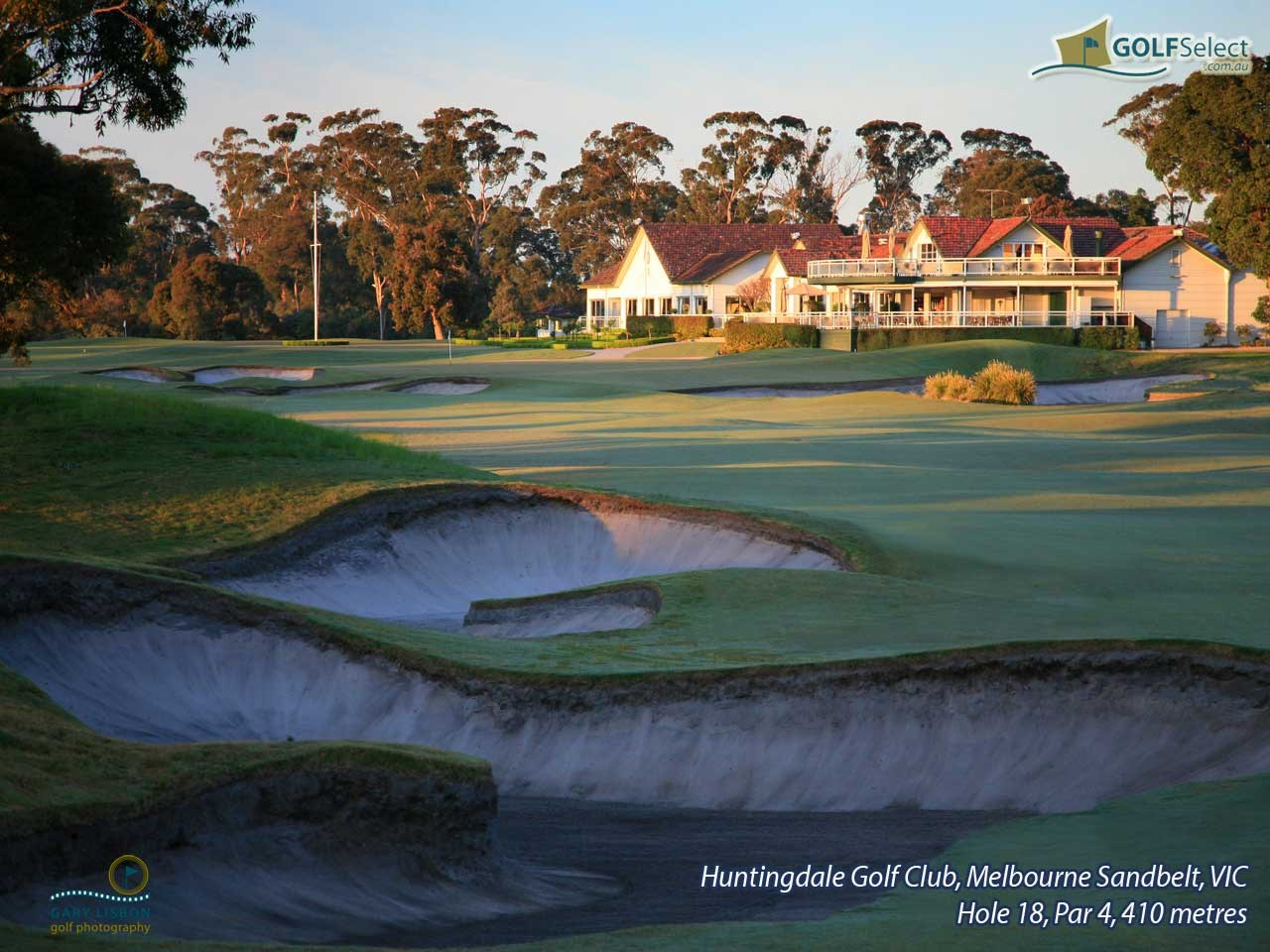 Huntingdale Golf Club Hole 18, Par 4, 410 metres