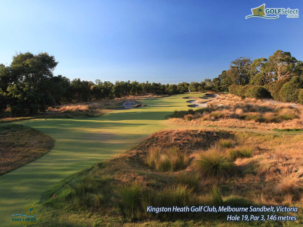 Kingston Heath Golf Club Hole 19, Par 3, 146 metres