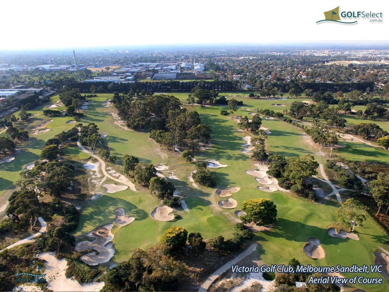 Victoria Golf Club Aerial Image of Course