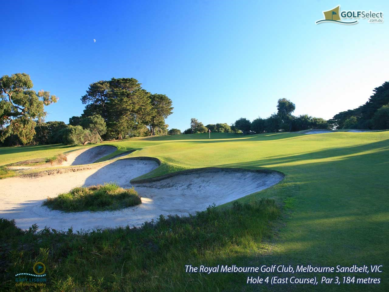 The Royal Melbourne GC (East Course) Hole 4, (East Course), Par 3, 184 metres