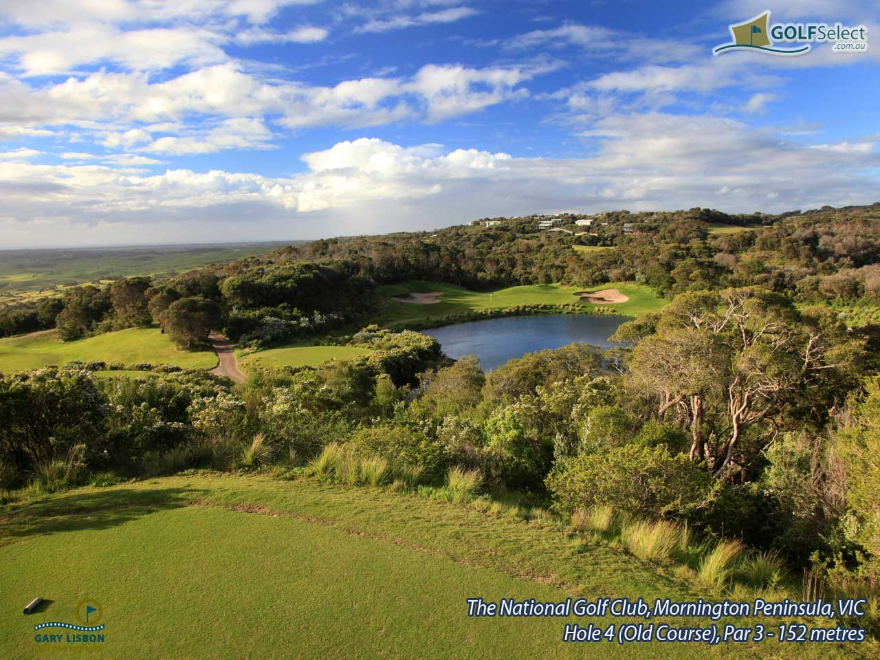 The National Golf Club (Old Course) Hole 4, Par 3, 152 metres
