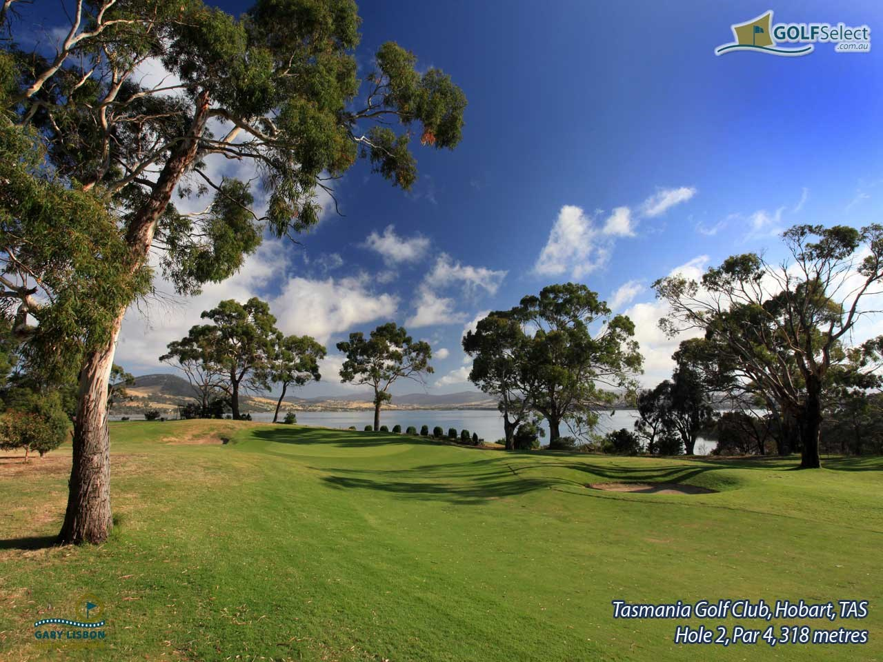 Tasmania Golf Club Hole 2, Par 4, 318 metres