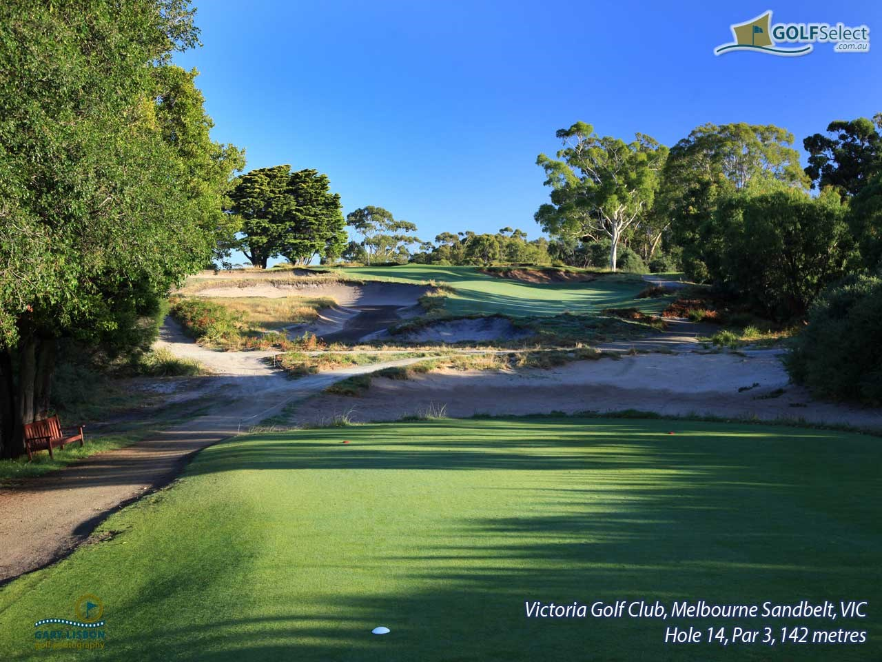 Victoria Golf Club Hole 14, Par 3, 147 metres
