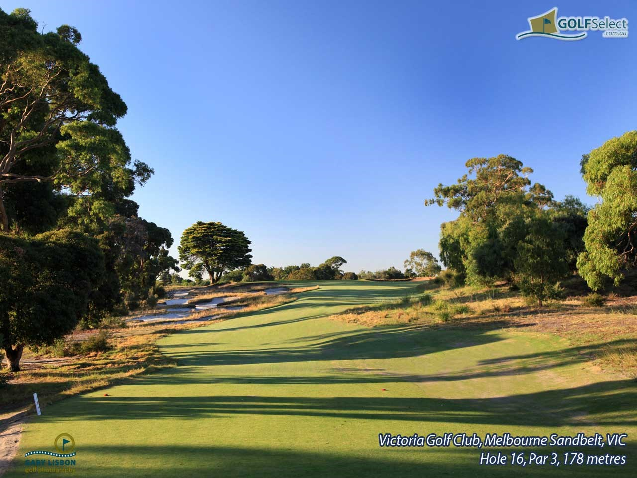 Victoria Golf Club Hole 16, Par 3, 178 metres