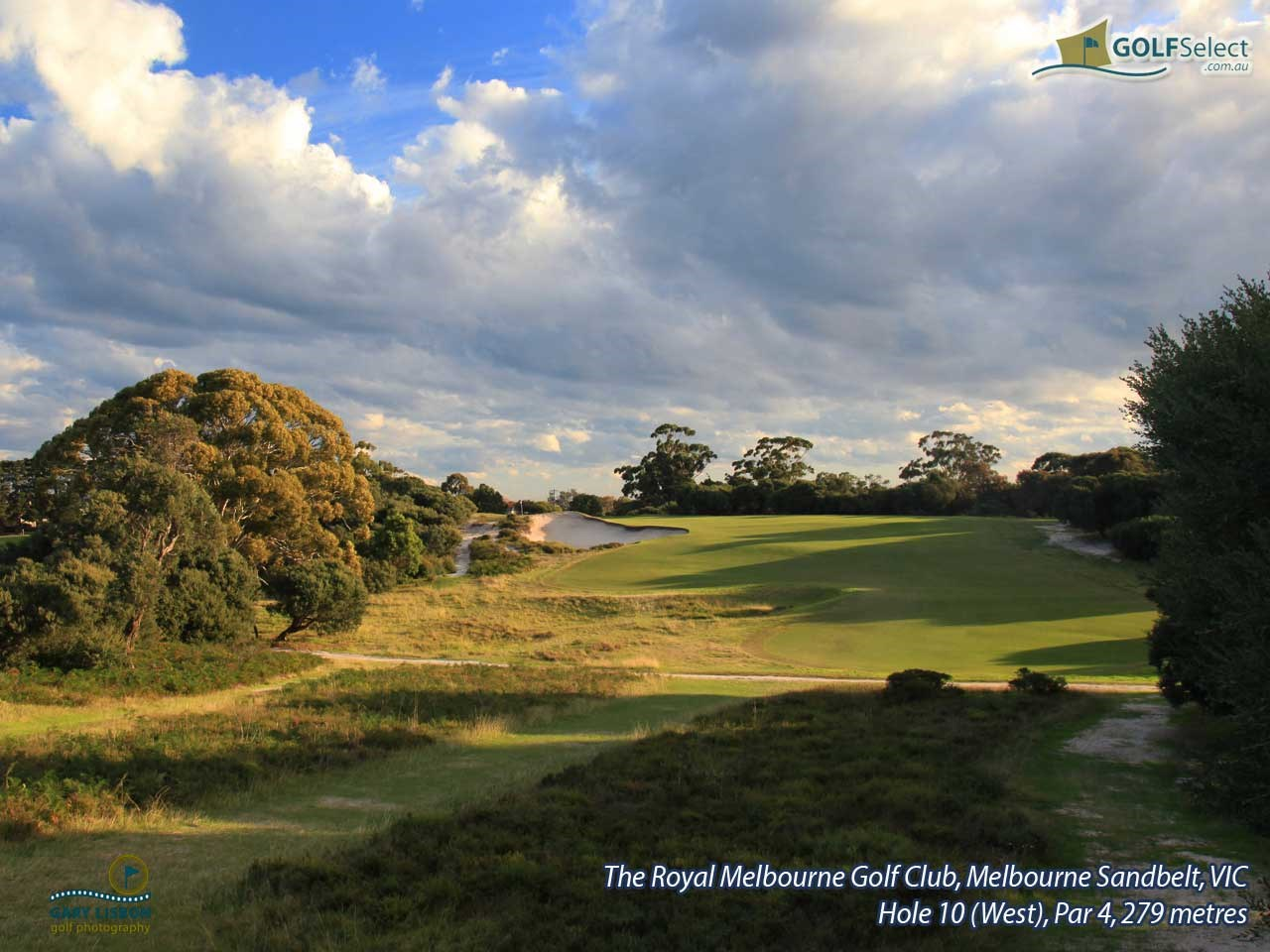 The Royal Melbourne Golf Club (West Course) Hole 10 (West), Par 4, 279 metres