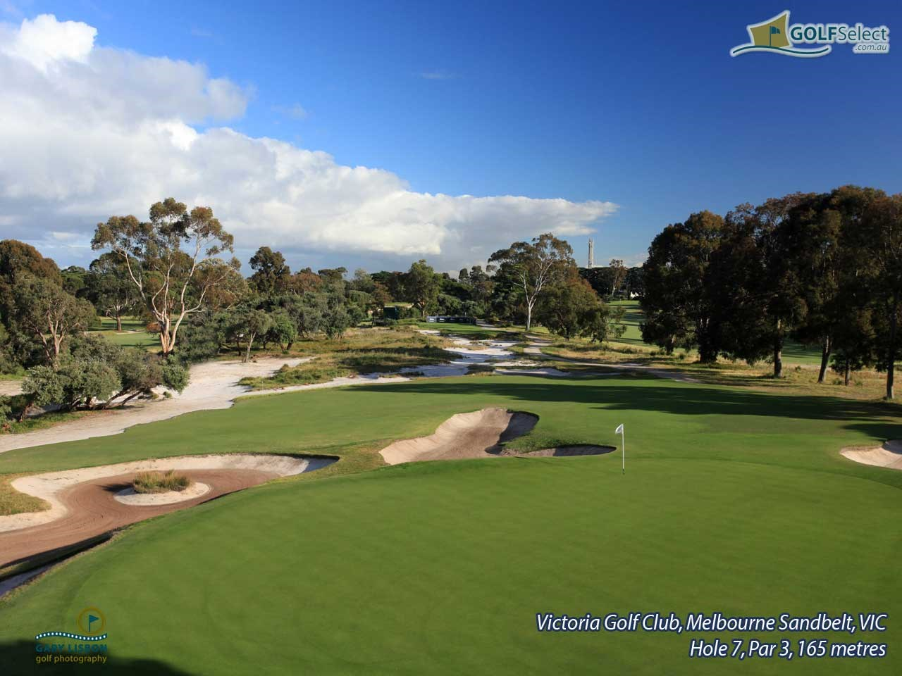 Victoria Golf Club Hole 7, Par 3, 165 metres
