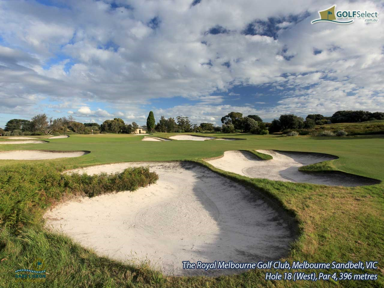 The Royal Melbourne Golf Club (West Course) Hole 18 (West), Par 4, 396 metres