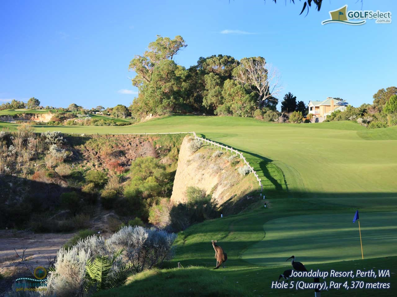 Joondalup Resort Hole 5 (Quarry), Par 4, 370 metres