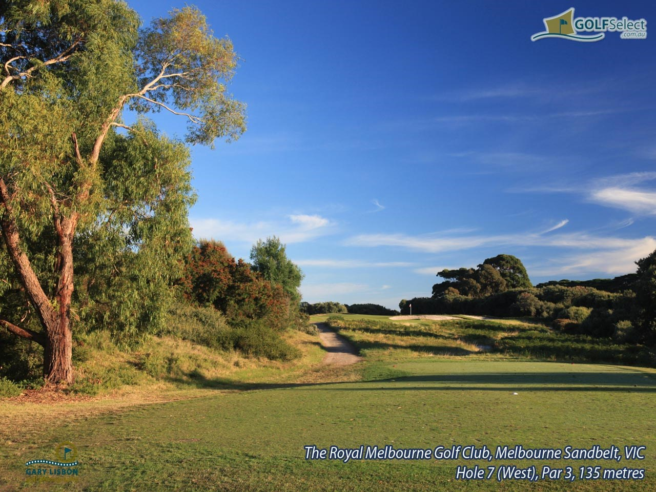 The Royal Melbourne Golf Club (West Course) Hole 7(West), Par 3, 135 metres