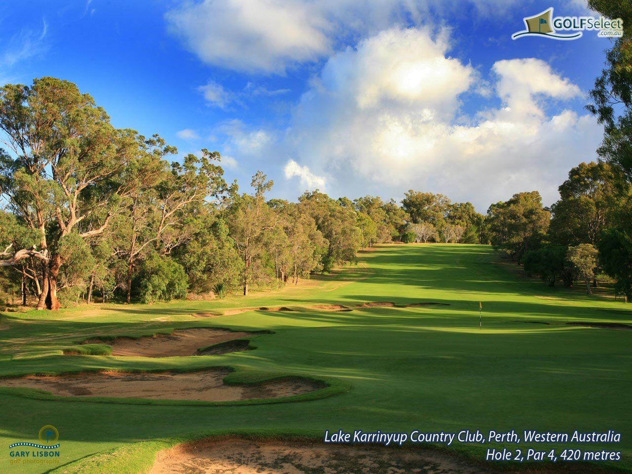Lake Karrinyup Country Club Hole 2, Par 4, 420 metres