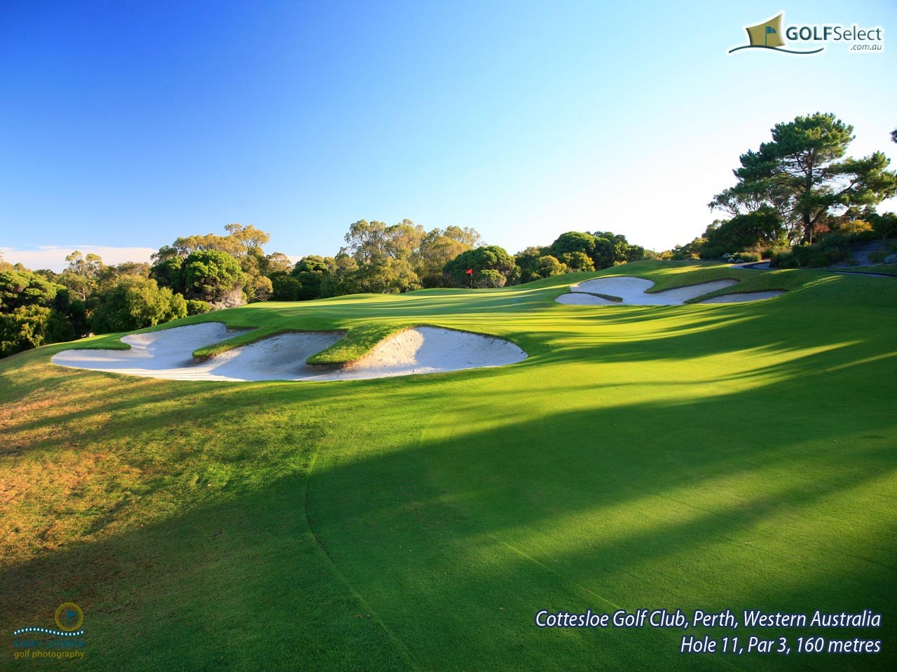 Cottesloe Golf Club Hole 11, Par 3, 148 metres