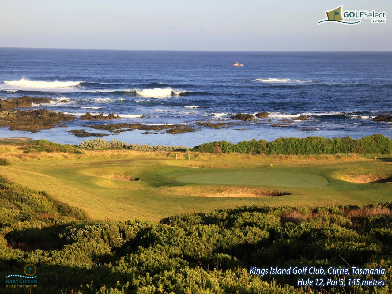 King Island Golf Club Hole 12, Par 3, 145 metres