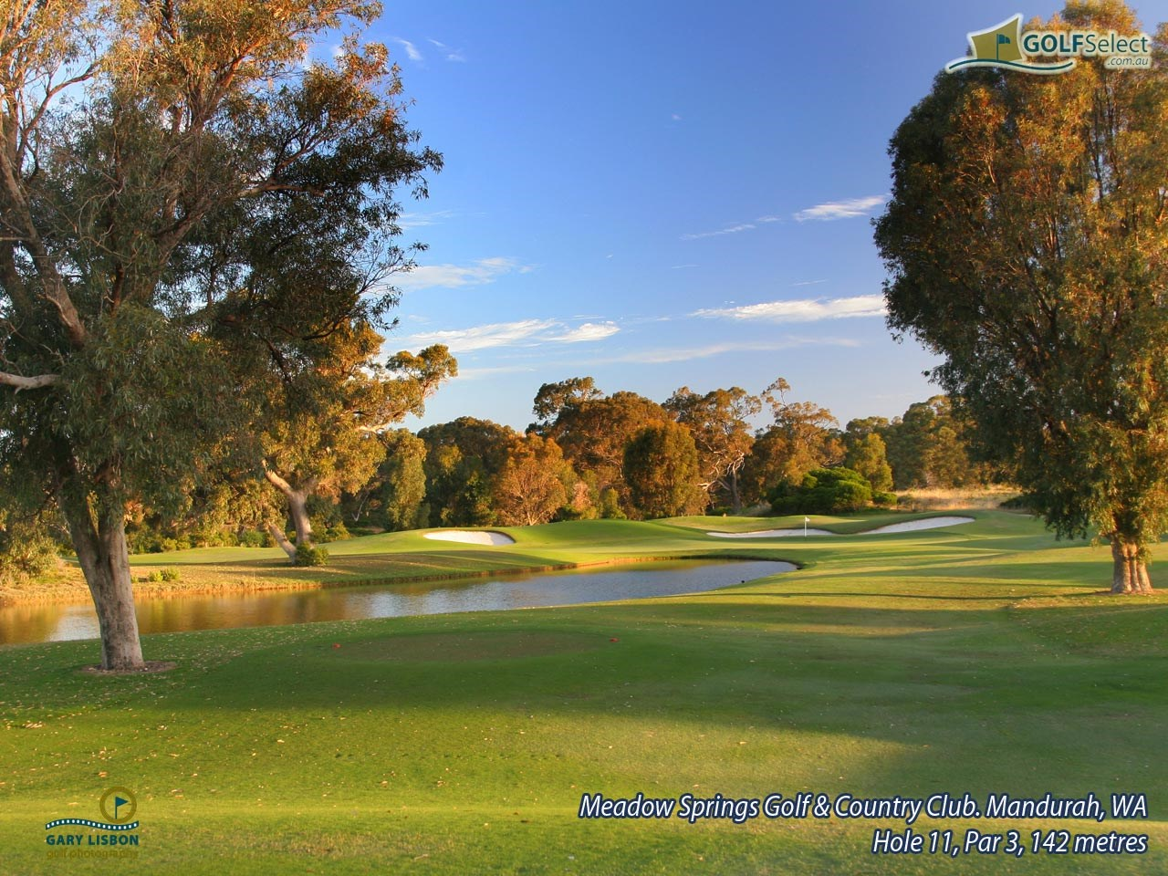 Meadow Springs Golf & Country Club Hole 11, Par 3, 142 metres