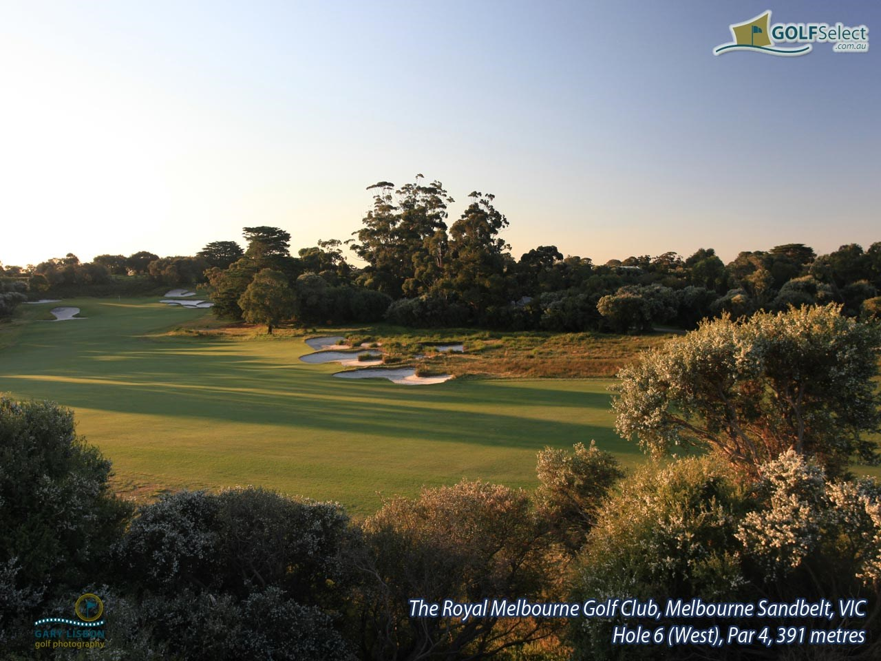 The Royal Melbourne Golf Club (West Course) Hole 6 (West), Par 4, 391 metres