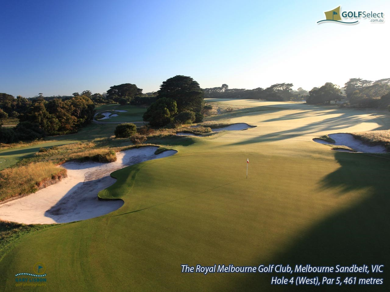 The Royal Melbourne Golf Club (West Course) Hole 4 (West), Par 5, 461 metres